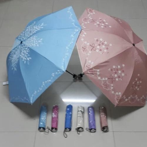 Foto Produk Payung Lipat 3 Motif Kembang / Bunga Murah Kualitas bagus dari indonline12