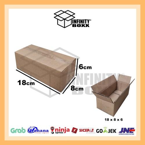 Foto Produk kardus box packaging packing 18x8x6 cm dari infinity boxx