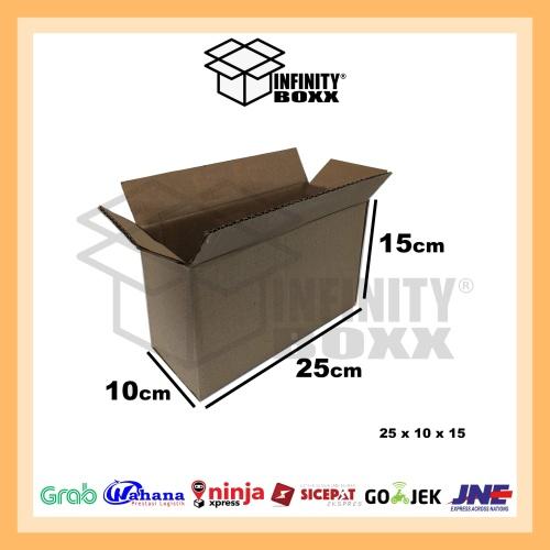 Foto Produk kardus box luar polos packaging packing 25x10x15 cm dari infinity boxx