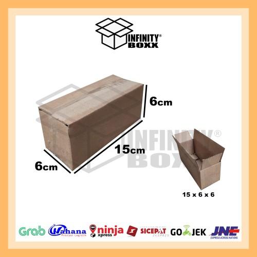 Foto Produk kardus box luar polos packaging packing 15x6x6 cm dari infinity boxx