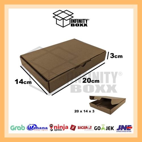 Foto Produk kotak kardus pizza box die cut ukuran 20x14x3 dari infinity boxx