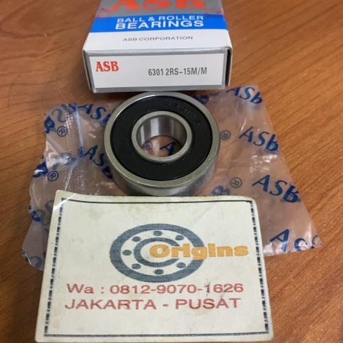 Foto Produk BEARING 6301 2RS-15m/m SPESIAL BORE 15mm 6301-15mm dari Origins Bearings
