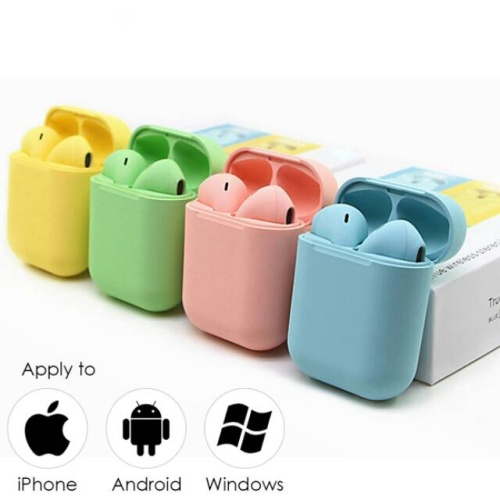 Foto Produk Headset Bluetooth inpods i12 macaron - Headset bluetooth i12 warna - warna cewek dari PINZY Official Store
