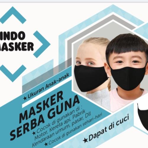 Foto Produk Indo Masker Masker Serba Guna - Dapat di cuci - Ukuran Kecil/Anak-Anak dari Hiroshi official