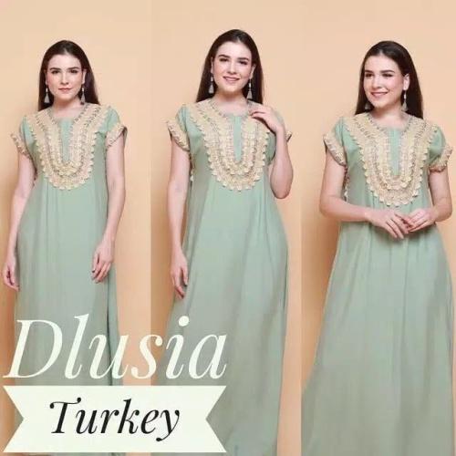 Foto Produk Dlusi turkey | Daster rayon busui friendly | Daster arab dari Osya Collection