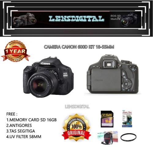 Foto Produk CANON EOS 600D KIT 18-55MM / CANON 600D / EOS 600D dari lensdigital