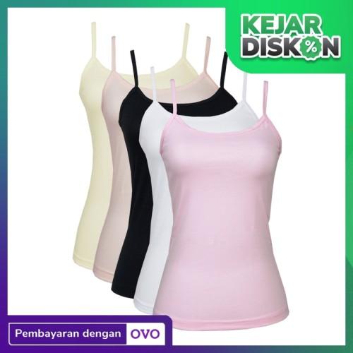 Foto Produk Nathalie | Tanktop Wanita Dewasa | Pakaian Dalam Wanita | NTA 450 - Putih, XL dari Flyman Nathalie Store