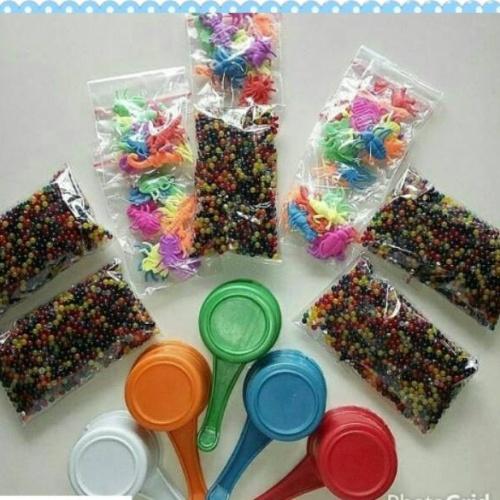 Foto Produk Waterbeads package Mainan Bola Air Edukasi Water beads Montessori dari My Own Flashcards