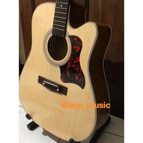 Foto Produk Gitar Akustik Yamaha F500 Jumbo paket lengkap dari Blaze Music