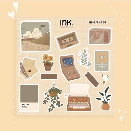 Jual Vintage Sticker Transparent Aesthetic Element Stiker Journal Decor Kota Tangerang Ink Kainkertas Tokopedia