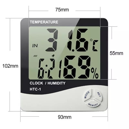 Foto Produk Digital Thermometer Hygrometer Weather Station Alarm Clock dari surya maju 88