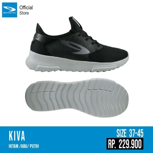 Foto Produk Sepatu running casual 910 original KIVA Black abu abu new 2020 dari Kicosport