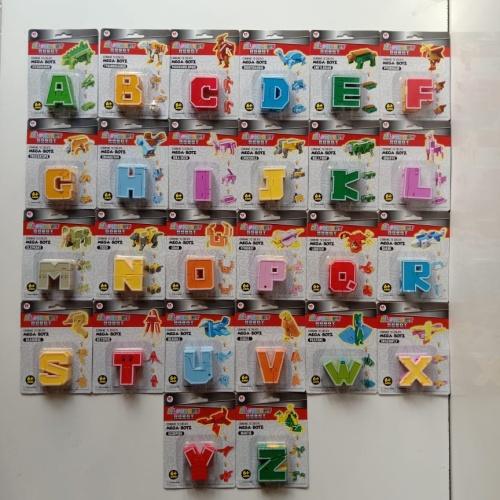 Foto Produk Alphabet robot mainan abjad robot mainan combine to create mega botz dari VENTURO TOYS