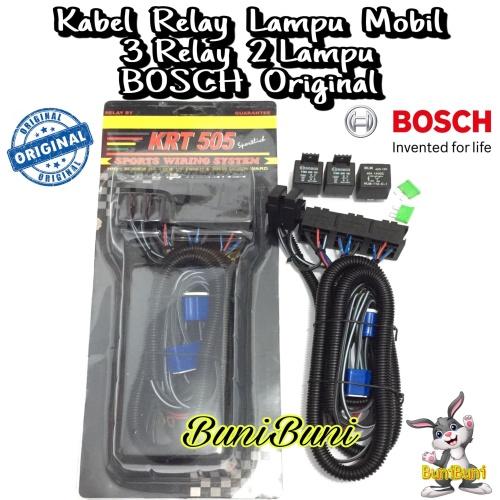 Foto Produk Kabel Relay BOSCH Untuk Lampu H4 Mobil 3 Relay 2 Lampu Original dari BuniBuni