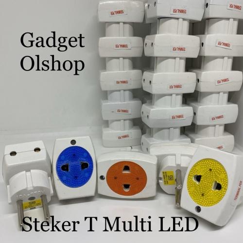 Foto Produk steker T Multi LED - Steker Multifungsi - Steker LED - Steker Unik dari Gadget olshop