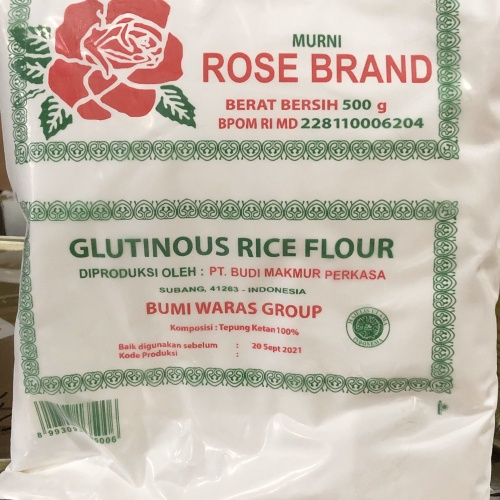 Foto Produk Tepung Ketan Putih / Glutinous Rice Flour Rose Brand 500gr dari KalimantanGroceries