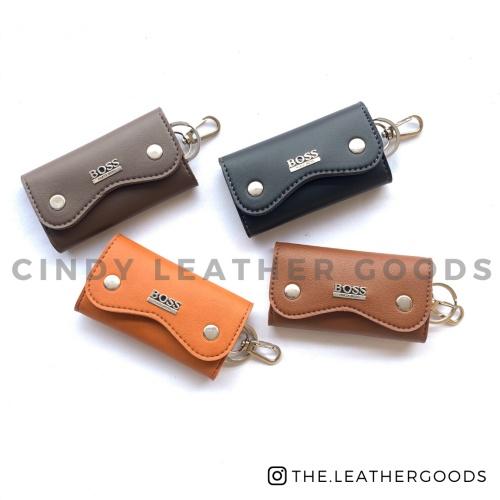 Foto Produk Dompet kunci mobil & motor. Dompet STNK motor & mobil. Mini Trendy - Hitam dari Cindy Leather Goods