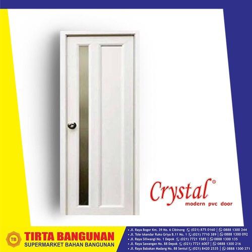 Foto Produk PINTU PVC CRYSTAL MINIMALIS 70 X 195 CM PUTIH / PINTU PVC KAMAR MANDI dari Tirta Bangunan