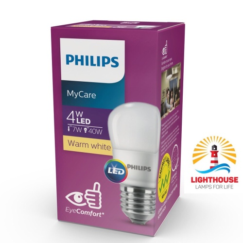 Foto Produk Lampu Led Bulb 4 Watt Philips P45 4W Kuning Warm White dari Lighthouse Sby