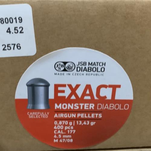 Foto Produk JSB Exact Monster cal.4.5mm 13.43gr 400pcs dari Brata Sport