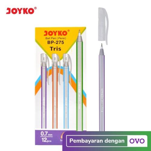 Foto Produk Ball Pen / Pulpen / Pena Joyko BP-275 / Tris / 1 BOX 12 PCS / 0.7 mm dari JOYKO Official