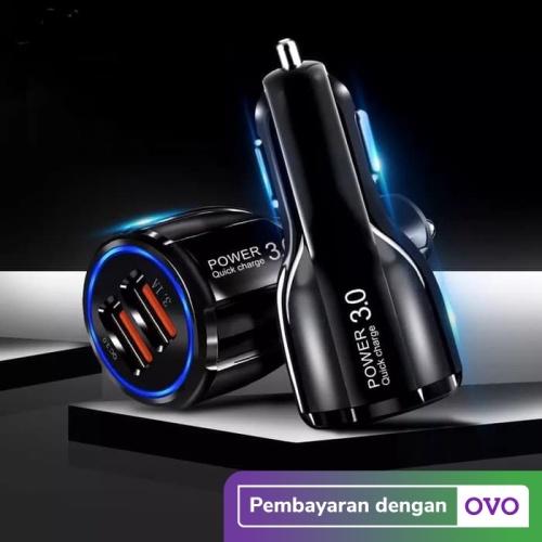 Foto Produk Car Charger QC3.0 Dual USB Fast Charging Qualcomm Quick Charger 12-24V dari KLIK MOTORSPORT