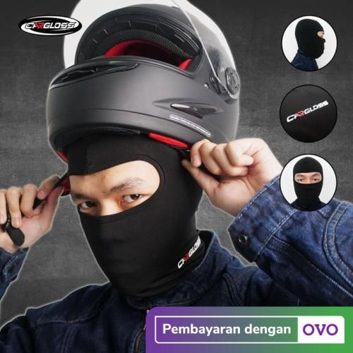 Foto Produk Cargloss BALACLAVA - all Black Full Face | Masker Balaclava Cargloss dari Helm Cargloss