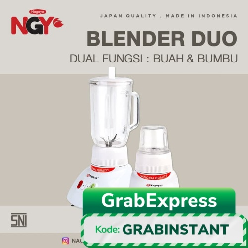 Foto Produk Blender NAGOYA Duo Kaca NGY-T12GN6 dari Nagoya Electronics