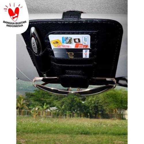 Foto Produk Technozio Tempat Kartu Mobil Warna Hitam /Card Holder/Tempat kaca mata dari Technozio