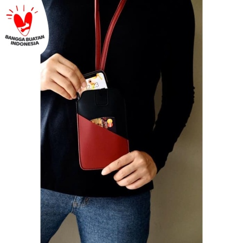 Foto Produk Tempat Hand Phone/ Tempat ID Card Warna Merah dari Technozio