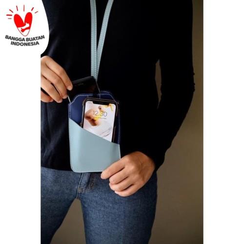 Foto Produk Tempat Hand Phone/ Tempat ID Card Warna Biru dari Technozio