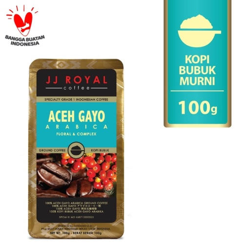 Foto Produk Coffee/Kopi JJ Royal Aceh Gayo Arabica Ground Bag 100g dari JJ Royal Coffee