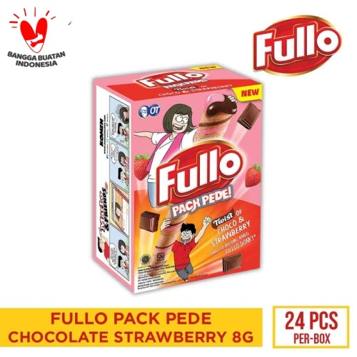 Foto Produk FULLO STICK CHOCOLATE STRAWBERRY 9GR - 1 BOX ISI 24PCS dari OT STORE OFFICIAL