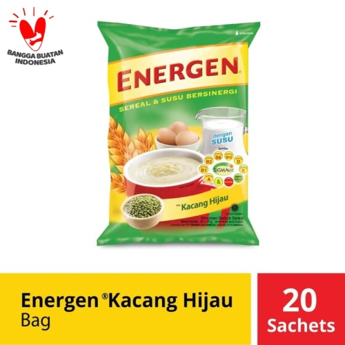 Foto Produk Energen Kacang Hijau Bag 20 Sachet @31 Gr dari Mayora Official Store