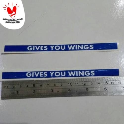 Foto Produk stiker visor helm Give You Wings dari TOKO HELM BOGOR