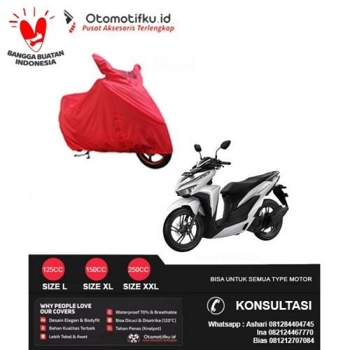 Foto Produk SARUNG MOTOR / COVER MOTOR VARIO 150 ESKLUSIF TAHAN PANAS BERKUALITAS - Merah dari Otomotifku Official