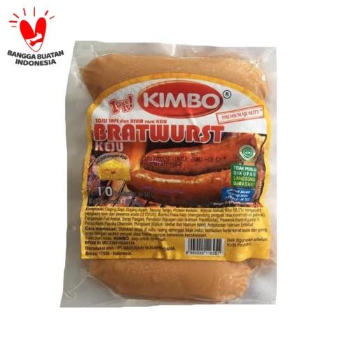 Foto Produk Sosis Sapi Bratwurst Kimbo 500gr Keju Isi 10 dari Kebab Mini Frozen Food