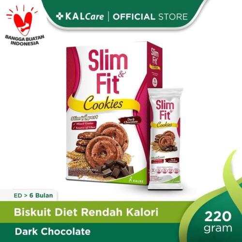 Foto Produk SlimFit Cookies Dark Chocolate 10x22gr dari KALCare Official Store