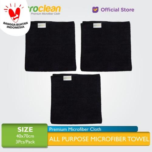 Foto Produk 3pcs Microclean Microfiber Cloth Size 40x40 Black (Detailing Cloth) dari Microfiber Indonesia