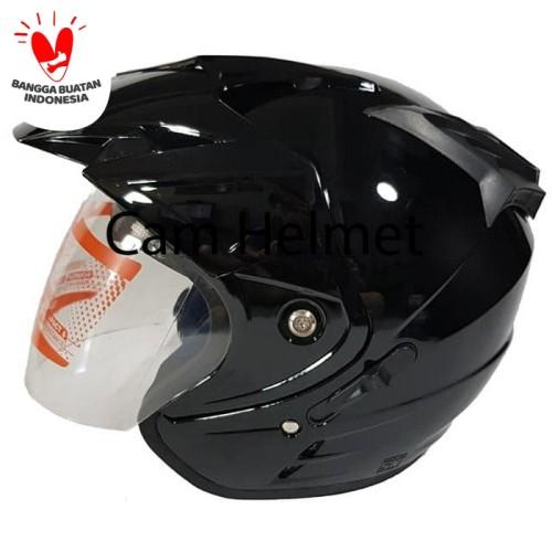 Foto Produk Helm GSP Jp-8 Black Gloss 2 kaca (double visor) dari Cam Helmet