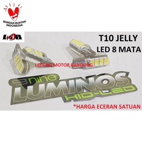 Foto Produk T10 Jelly Led 8 Mata Lampu Variasi Senja Motor Mobil Gell Terang dari Ledeng Motor Bandung