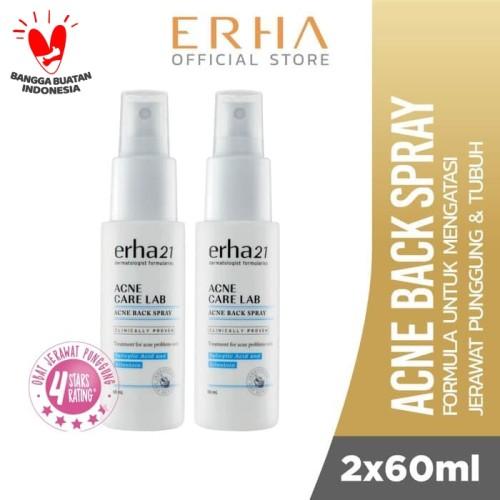 Foto Produk Erha Value Pack Acne Backspray (2 Botol) - Obat Jerawat Punggung dari Erha Official Store