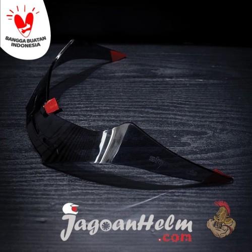 Foto Produk SPOILER Helm KYT R10 | CLEAR | AKRILIK dari Jagoan Helm