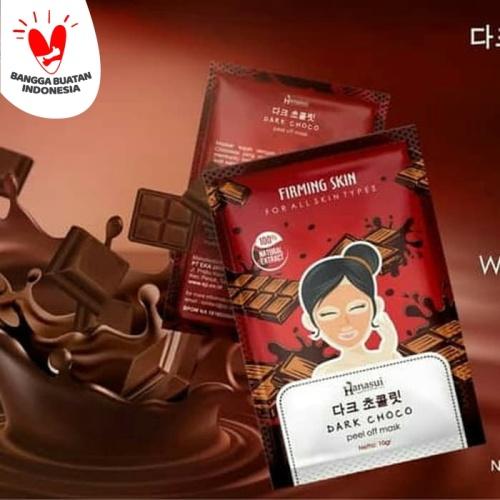 Foto Produk HANASUI DARK CHOCO PEEL OFF MASK FIRMING SKIN ORIGINAL BPOM 10GR dari Cenny Store