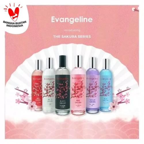 Foto Produk EVANGELINE PARFUM EDT 100ML SAKURA - PARFUM EVANGELINE SAKURA BPOM - Merah dari Cenny Store