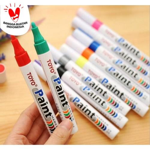 Foto Produk Spidol ban paint marker mobil motor TOYO original - Merah dari Best Accessories