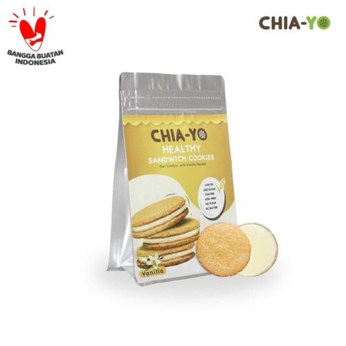 Foto Produk Cookies Sandwich Vanilla 104gr dari Chia-Yo