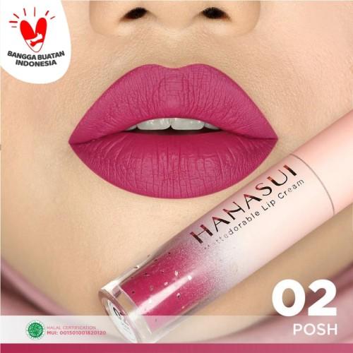 Foto Produk (BPOM) HANASUI Mattedorable Lip Cream 4gr - 02 POSH dari HNCbeauty