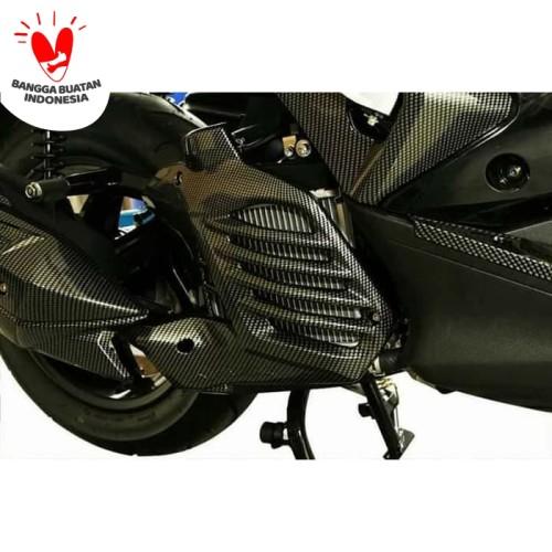 Foto Produk Cover Tutup Radiator Aerox 155 Carbon Merk Nemo dari saungmotor