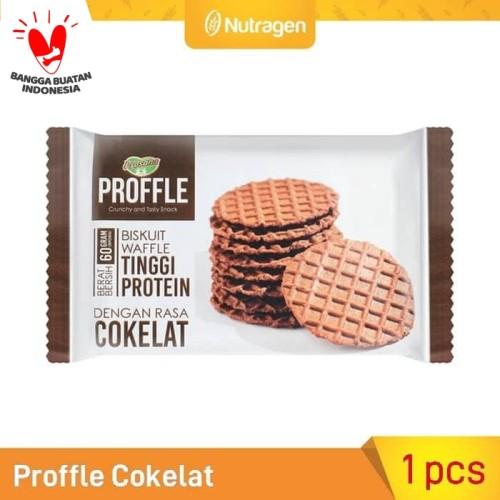 Foto Produk Prosana Proffle High Protein Waffle Cokelat 60gr dari Nutragen Global Esana